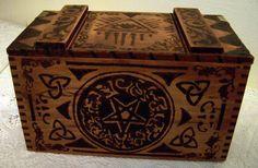 beautiful fortune teller tarot card box? made by Halloween Forum member Kelloween