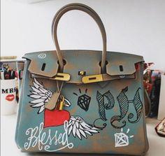 Bolsa customizada Hermès Chanel, Louis Vuitton, Hermes Birkin, Cute, Bags, Mood, Outfit, Style, Paper Craft Work