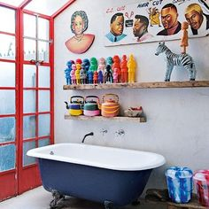 Une salle de bains originale pour enfants