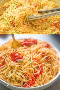 Angel Hair Pasta Recipe An absolutely scrumptious dish made with just a few simple ingredients. Isn't that what we are looking for when planning our next dinner? This Angel Hair Pasta recipe is going to become your new favorite. Gourmet Recipes, Vegetarian Recipes, Dinner Recipes, Cooking Recipes, Healthy Recipes, Simple Pasta Recipes, Light Pasta Recipes, Vegetarian Pasta Dishes, Pasta Side Dishes