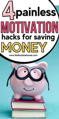 Here are 4 painless tips and hacks to help boost your motivation and help you stay consistent at saving more money this year. College Loans, Student Loans, Money Tips, Money Saving Tips, Money Hacks, Extra Cash, Extra Money, Show Me The Money, How To Make Money