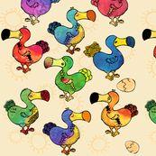 More dodo fabric from Spoonflower.com