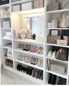 Closet Goals😍 , , , , by Luxe Decor💕 Sala Glam, Closet Bedroom, Bedroom Decor, Pax Closet, Master Closet, Dressing Room Design, Ikea Dressing Room, Vanity Room, Closet Vanity