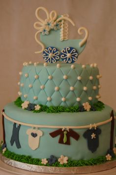 CakeFilley: Clothes Line Baby Shower Cake