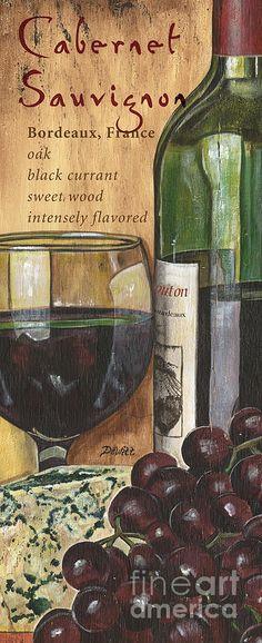 Cabernet Sauvignon Painting  - Cabernet Sauvignon Fine Art Print