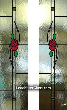 Our Charles Rennie Mackintosh inspired glass designs for split glazed doors or side panels can be altered to suit your exact glass sizes and shape of door/window glass. The Leadbitter Glass studio can create almost any Stained Glass Door, Stained Glass Designs, Stained Glass Panels, Stained Glass Projects, Stained Glass Patterns, Leaded Glass, Mosaic Glass, Window Glass, Art Nouveau