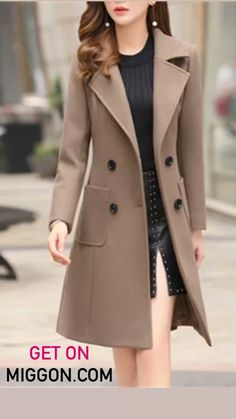 Types Of Coats, Dress Indian Style, Urban Chic, Top Coat, Winter Coat, Coats For Women, Autumn Winter Fashion, Mantel, Business Casual