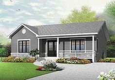 Discover the plan 3136 - Clarendon from the Drummond House Plans house collection. Traditional ranch style bungalow plan, ideal starter home, open living concept with patio door, large shower. Total living area of 1103 sqft.