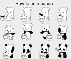 How to be a panda.