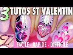 3 Tutos nail art Spécial St Valentin : facile, expert et très rapide ! - YouTube