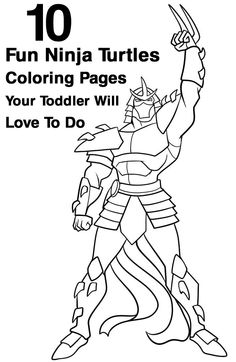 Top 10 Ninja Turtles Coloring Pages: Below is a list of Ninja Turtles characters coloring pages that your kids will love to color.