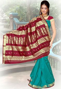 Blue Color Designer Silk Saree.Enchant The Mantra Of Being Stylish In This Attire.