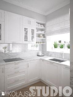 kuchnia-biały marmur-projekt - zdjęcie od MIKOŁAJSKAstudio - Kuchnia - Styl Glamour - MIKOŁAJSKAstudio