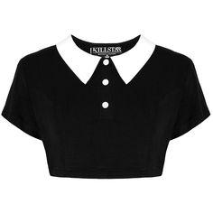 £29.99 Killstar Addams Crop Top [B] (saa myös mm. Attitude Clothingilta) (S)