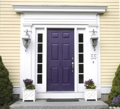 Purple front door...it's going to be easier to ask for forgiveness than permission for this! :) love it!
