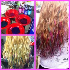 colored hair tips :)
