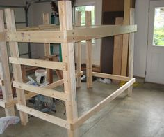 How to make a loft for a dorm, or any other tight space! Dimensions given will accommodate an Extra-Long Twin mattress with 1' extra on every side. We are making these lofts to take to Iowa State while living in a Dorm. We will be able to put a desk or sofa underneath. A loft is a great way to gain floor space; so much more room for activities! EDIT:  After a full school year of sleeping on this loft I have made many drastic improvements, mainly that it now accepts the f...