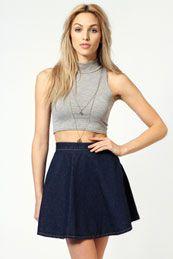 Sadie Circle Denim Skirt