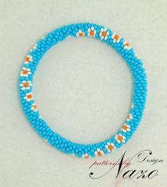 Bead Pattern - Pétales - Crochet Bracelet Pattern