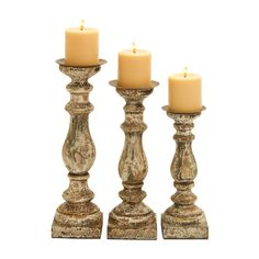 Shop Joss & Main for your 3-Piece Bedford Candleholder Set. Indulge the interiors of your living area with a touch of classical style and bring home the One Allium Way wooden candle holder (set of 3).