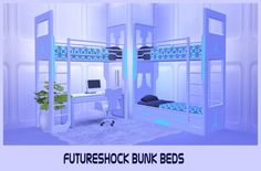 Brial-immortelle: Futureshock Bunk Beds Conversion • Sims 4 Downloads