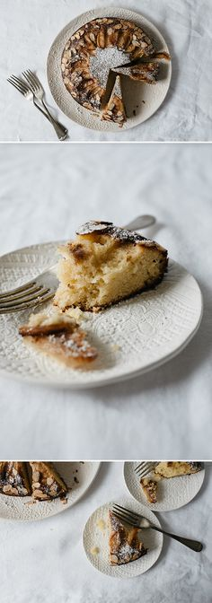 Thalia Ho of Butter and Brioche shares her go-to apple, almond, and olive oil cake recipe and serves it up on a beautiful plate from Etsy. Old Recipes, Greek Recipes, Desert Recipes, Vegan Recipes, Olive Oil Cake, Apple Cake, Almond, Deserts, Thalia