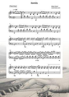 Ноты Billie Eilish - ilomilo - Пианино.Easy Billie Eilish, Sheet Music, Notes, Easy, Report Cards, Music Sheets