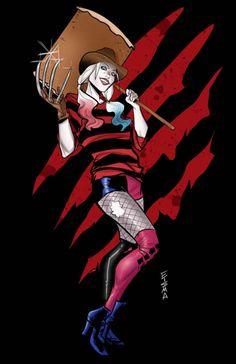 Harley Quinn as Freddy Krueger - Joe Eisma