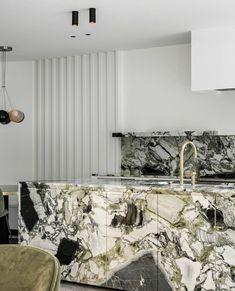 Kitchen Marble, Luxury Furniture Brands, House Design, Interior And Exterior, Interior, Dream Design, Modern Kitchen Design, Green Marble, Contemporary Furniture Design