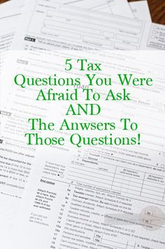 5 Tax Questions You Were Afraid To Ask from How I Pinch A Penny.com