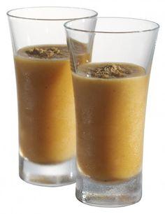 Caramel Pumpkin Cheesecake Dessert Shots ~ Pumpkin, cream cheese, vanilla yogurt, low fat milk and Dutch Caramel Vodka
