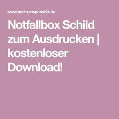 Notfallbox Schild zum Ausdrucken | kostenloser Download!