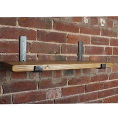 Scaffold Board Shelves & Industrial Steel Brackets | Racks & Shelves | Yester Home