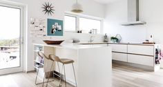 A collection of interior designs which features 17 Exceptional Scandinavian Kitchen Interiors Every Gourmet Would Love. Scandinavian Home Interiors, Scandinavian Kitchen, Interior Design Images, Interior Design Kitchen, New Kitchen, Kitchen Decor, Kitchen Ideas, Kitchen Images, Beautiful Kitchens