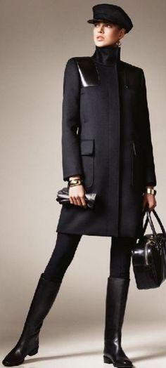 Max Mara: Black on black chic