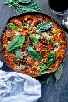 Sweet Potato Vegetarian Skillet Lasagna