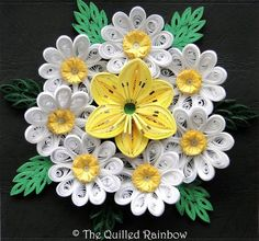 Paper Quilled Lily and Daisies Arrangement by TheQuilledRainbow,