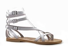 Handmade in Italy womens strappy sandals in white leather - Italian Boutique €64