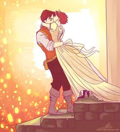 I guess each Tangled fan has to draw this scene at least one time sooo Rapunzel and Flynn too much fails for one drawing,but still. I see the light. Rapunzel Und Eugene, Rapunzel And Flynn, Disney Rapunzel, Princess Rapunzel, Rapunzel Story, Disney Belle, Disney Princess, Walt Disney, Disney Couples