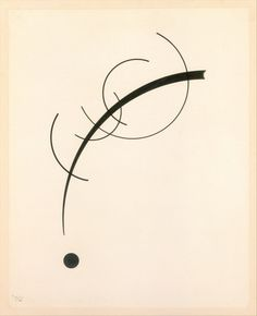 Wassily Kandinsky - 1925 - Free Curve to the Point - Accompanying Sound of Geometric Curves