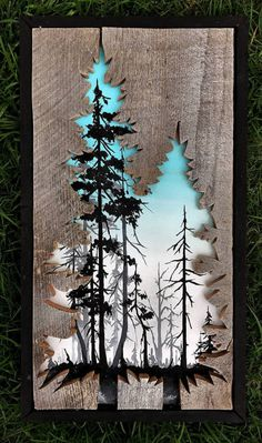 Beautiful Landscape Paintings Emerge from Creatively Carved Wood Frames,Reclaimed Wood Frames Reclaimed Wood Art Woodensense How To Produce Wood Art ? Wood art is generally the job of surrounding around and inside, provide. Diy Wood Projects, Wood Crafts, Woodworking Projects, Woodworking Furniture, Woodworking Plans, Birch Bark Crafts, Art Projects, Arte Pallet, Pallet Art