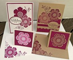 """Birthday Cards - Stampin' Up! """"Mixed Bunch"""" stamp set"""