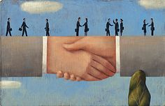 """Partnership"", www.adamsillustration.com, Steve Adams"