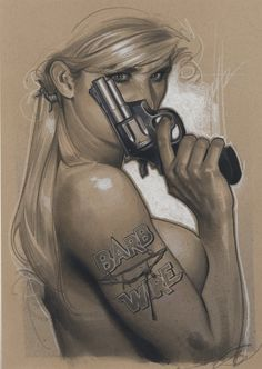 Adam Hughes - Cover, Barb Wire #3