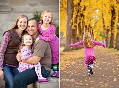 Family of 4 pose, photography