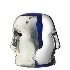 Kosta Boda: Brains Janus (blue & black)
