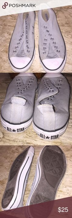 Men's Converse Chuck Taylor All-Stars Low Tops. 9M Men's Converse Chuck Taylor All-Stars Low Tops. 9M.  Worn once or twice. No laces. Marker on the toes but shoes faintly. Prices accordingly. Converse Shoes Athletic Shoes