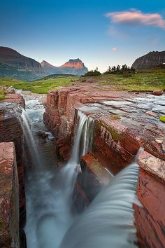 I've got to see this before all of the glaciers melt! These crevasses are wondrous. :: Glacier National Park, Montana