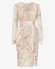 Phase Eight Nissa Floral Dress Cream