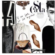 Chic by barbarela11 on Polyvore featuring moda, Isa Arfen, Balmain, Gucci, Jessica Simpson, Fendi and Vivien Frank Designs